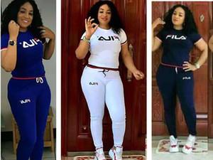 Summer short sleeve tracksuit Women brand jogger suit solid color outfits sportswear Tshirt Top+Pants 2Pcs Set plus size 3XL sweatsuits 1398
