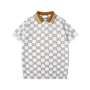 2020 Italien-T-Shirt Medusa Desig Polo Shirts High Street Stickerei Garter Snakes Little Bee Printing Kleidung Mens Marke
