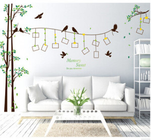 Photo Tree Wall Stickers Photo Frame DIY Sticker Creative Removable PVC Living Room Television Walls Sticker Home Decor