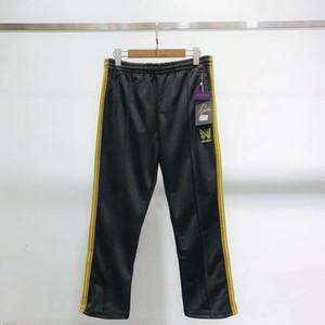 2019 AWGE X İĞNELER ASAP ROCKY Pantolon Kelebek Nakış Sweatpants Şerit Rahat Pantolon Erkek Kadın Çift Spor Pantolon Moda HFLSKZ053