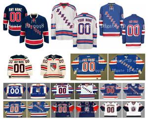 Özelleştirilmiş New York Rangers Formalar Kış Klasik Özel Herhangi Bir İsim Herhangi Bir Numaraya Dikişli Buz Hokeyi Forması Otantik Nakış Logolar