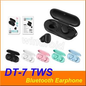 DT7 DT7 TWS Mini Bluetooth V5.0 écouteurs sans fil écouteurs stéréo vrai sport Casque écouteurs casque portable avec boîtier de charge 5 couleurs