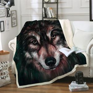 3d Wolf Decke Für Erwachsene Wolf Malerei Plüsch Decke Auf Dem Bett Sherpa Battaniye Tier Bettwäsche