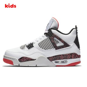 2020 New Jumpman 4 Kinder Basketballschuhe Kinder Outdoor-Sportschuhe Gym Red Chicago 4s Luxus-Sport Jungen-Mädchen-Turnschuhe Größe 28-35