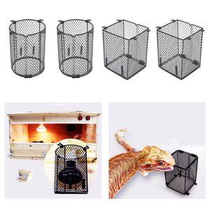 4 Pièces Lampe Reptile Screen Guard Couverture Abat Prévention Noir