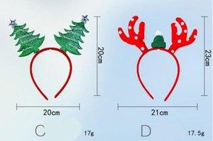 7 Hair Style Natal varas menina Christmas Tree Hat projeto dos cervos hairband crianças acessórios de cabelo para a festa de Natal