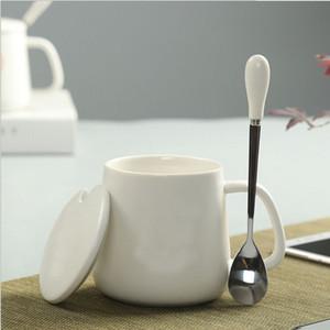 Seramik bardak su kupa severler ÇAY ARACI ofis tek fincan saf beyaz, sap saf beyaz olmadan tek kupa
