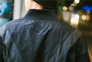 대형 윈드 디자이너 자켓 스트리트 화이트 블랙 Sweatershirt 코트 지퍼 후드 얇은 스포츠 자켓 배트 윙 Jardam B100028L