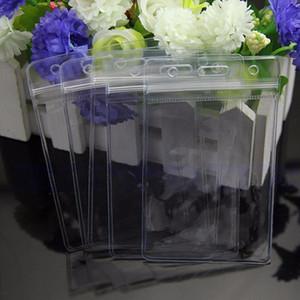 5 x Temizle Uygun Şeffaf PVC Rozet İş Sergi KIMLIK Adı Su Geçirmez Kart Sahipleri Gövde Hiçbir Fermuar Rahat Katı Tutucular