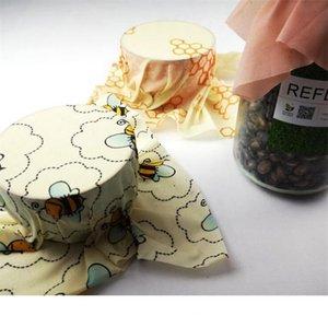 قابلة لإعادة الاستخدام شمع العسل الغذاء التفاف شمع التغليف في الهواء الطلق نزهة القابلة للتحلل التخزين التفاف الأغذية الطازجة مسك الأغطية مطبخ المنظم حقائب