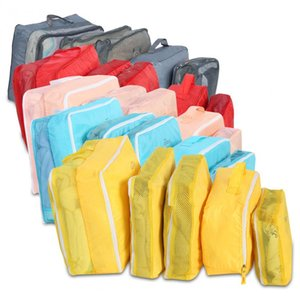 Viaje 5pcs maleta del equipaje bolsa de almacenamiento para la ropa Conjunto ordenado de la ropa interior del armario divisor Inicio organizador del envase