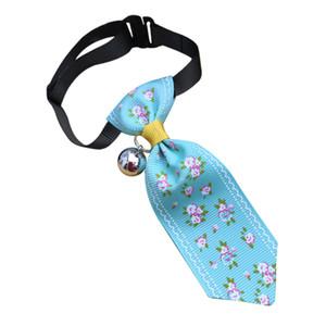 Trsnser Accesorios para perros Perros azules Gato de la flor del estampado de animales del lazo ajustable para mascotas collar corbata Decoración Animal doméstico Bandana 19May7 P40