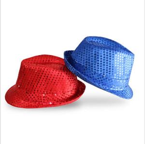 장식 조각 모자 번쩍 빛 LED에 트릴 LED 재즈 카우보이 모자 남여 힙합 야광 모자 파티 성인 발광 캡 (11 개) 색상 LXL38-1