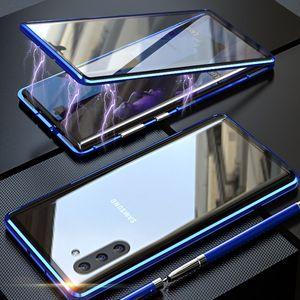 Магнитная Адсорбция 360 Полных закаленное стекло чехол для Samsung Galaxy Note 10 Примечания 20 Ультра S10 S20 Ультра A70 A30 A20 A10 S9