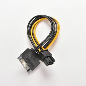 DHL 100pcs 15pin SATA di alimentazione a 6pin cavo adattatore PCIe PCIe PCI Express per scheda video