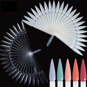 24pcs / set Art Faux ongles Affichage pratique acrylique en forme d'éventail Nail art carte couleur polonaise pratique détachable Outil bricolage HHA889