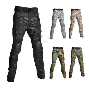 Army Tactical Pants with Knee Pads Camouflage Shooting Hunting Pants Paintball Training Trousers Cargo