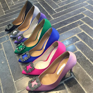 Bombas 2019 alta qualidade desenhista do partido sapatos de casamento Mulheres senhoras Sandálias Moda vestido sexy toe sapatos de bico fino dos saltos altos
