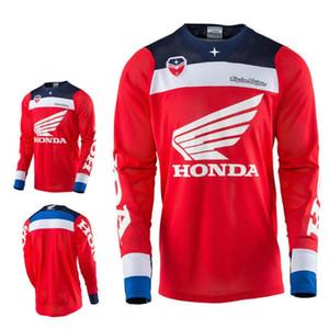 TLD descente vêtements combinaison de course de moto d'été hors route manches longues hommes haut VTT Honda T-shirt
