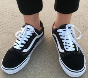 SICAK Yeni moda Old Skool erkek ve kadın kanvas ayakkabılar bağcıklı Casual spor ayakkabı daire ayakkabı Unisex spor ayakkabıları Yürüyüş