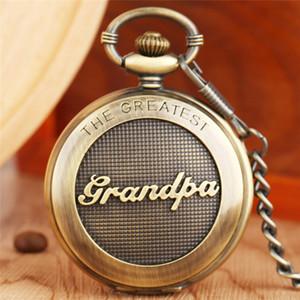 Alte Antike Der größte Großvater der Entwurfs-Männer analoge Quarz-Taschen-Uhr-Großvater-Geschenk-Anhänger Kette Big Rome Nummer Dial Clock
