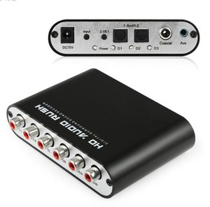 Audio Digital 5.1 descodificador Dolby DTS / AC-3 Para óptico de 5.1 canales de sonido RCA analógico convertidor adaptador de audio amplificador convertidor