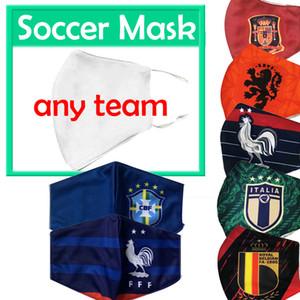 football masque équipe nationale Belgique Espagne masques de football fan de haute qualité