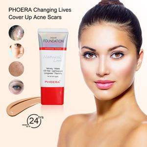 PHOERA flüssige Grundlage 30ml Mineral Fettige Haut Matte Silky Makeup Foundation vollständig bedeckt 24H Langlebige Makeup Tools U0501