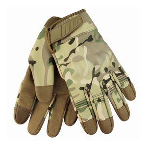 2019 taktische Handschuhe Armee MilitärCamo Sport Vollfinger-Handschuh Fahrrad Wandern Klettern