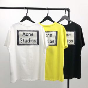 Marka Tasarımcı Erkek Gömlek Yaz Lüks tişörtleri Kadınlar Moda Top Tees Kısa Kollu Akne Tasarımcı Studios Gömlek Streetwear 2020780K