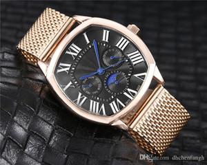 Schweizer Moderne CT Uhren Herrenuhren Quadratisch Rechteck Uhren Luxusmode-Quarz-Armbanduhr-Geschäfts-Mann-Uhr Großhandel