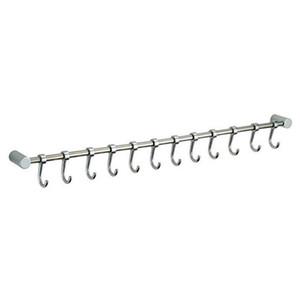 ABSs-12 Hooks Utensílio armário de suspensão trilho de rack Banho Tool Holder