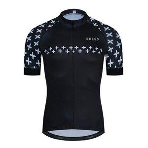 Manica corta Pro Team Uomini Cycling Jersey NDLSS estate di alta qualità Neri Abbigliamento asciutto rapido respirabile Cycle Jersey Abbigliamento
