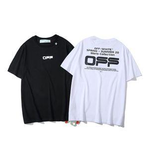 2020 Mens off TShirt Men Women High Quality Short Sleeves Fashion Boy London Men Breakage of the letter Printing Tee 039