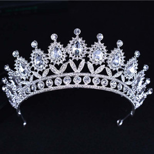 KMVEXO 2018 New Baroque Big Strass wulstige Stirnband Tiara Braut Crown Hochzeit Korean Haarschmuck