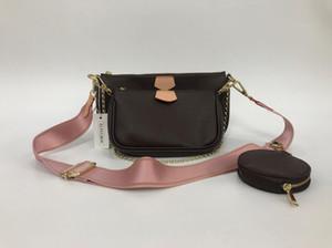 Venta caliente de la moda del 3 piezas bolsas bolsos del diseñador de las mujeres Carteras de mujeres de la cadena del bolso de cuero Crossbody y bolsos de hombro