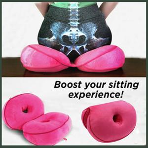 Assento Multi-funcional duplo conforto almofada de pelúcia Memory Foam Almofada do assento de elevação ortopédico Hip cima do assento bonito da parte traseira 6 cores