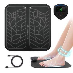 Pies muscular Anlan eléctrico ccsme masajeador de pies ABS fisioterapia revitalizante Pedicura pie vibrador sin hilos Estimulador unisex