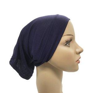Las mujeres musulmanes bufanda principal Cotton Stretch underscarf Hijab cubierta Turbante Cap underscarf Islam diadema bufanda interna del capo