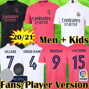 Camiseta equipación 19 20 Real Madrid CAMPEONES 34 2020 2021 HAZARD JOVI MILITAO VINICIUS ASENSIO MARCELO ISCO conunto adultos niños