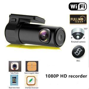 اندفاعة كام HD 1080P واي فاي سيارة dvr كاميرا فيديو مسجل السيارات القيادة مسجل للرؤية الليلية G- الاستشعار WDR HDR R20 اللاسلكية DVR App Monitor