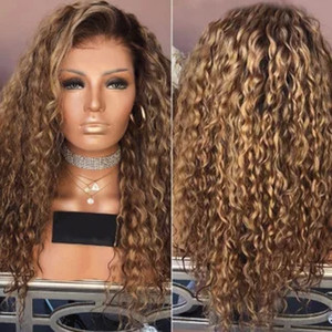 2020 fashion hot new wig female African fluffy small curly hair mixed brown long curly hair dyed chemical fiber hair hood
