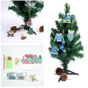 5 STÜCKE Weihnachten Kristall Diamant Gemälde Anhänger Ornamente Weihnachtsbaum Ornament DIY Kinder Geschenk Weihnachtsfeier Dekorationen für Zuhause