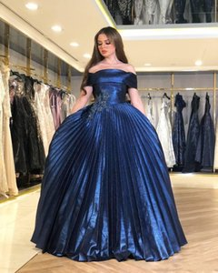 2020 Arabic Aso Ebi Navy Blue Evening Dresses Lace Beaded Prom Dress Sexy Formal Party Gowns robes de soiree