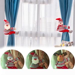 B Weihnachten Vorhang Schnalle Halter Weihnachtsmann Snowman Elk Curtain Tie-back Schlafzimmer Hakenbefestigungsschelle Weihnachten Home Decor