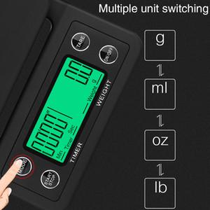 terazi 50pcs al por mayor mini LCD Digital Electronic goteo Escala Café 0,1 g de 3 kg de peso de 5 kg de café del hogar goteo Escala temporizador