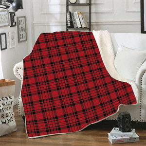 Plaid Sherpa Blanket 150 * 200 engrossar 3D Impresso Plush Inverno Xaile Couch sofá velo Enrole waddling cama casa cobertor LJJA3372-21