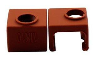 200pcs MK10 silicone Sock brun au lieu céramique Isolation SILICONE CHAUFFE BLOC DE COUVERTURE