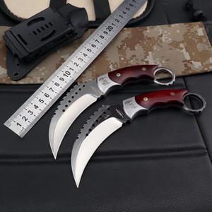 Alta qualità Colto freddo DC53 Acciaio Karambit Claw Knife CS Go Camping Defense Difesa Tattica Claw Coltello per artiglio Outdoor Jungle Meccanico Coltelli per artiglio BM Coltelli BM