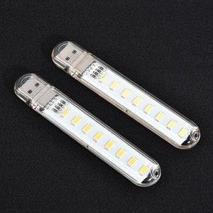 مصغرة USB LED كتاب أضواء 3LEDS 8LEDs 24LEDs LED لمبة الطاقة 5V الأبيض / الدافئة ضوء USB ليلة ضوء لبنك الطاقة المحمولة التخييم